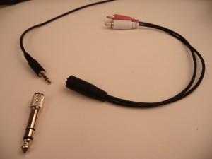 Sennheiser RS 180 Input adapters P1090683 300x225 The Best Home Wireless Headphones Sennheiser RS 120 & RS 180