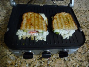 Panini Sandwiches with Melted Cheese