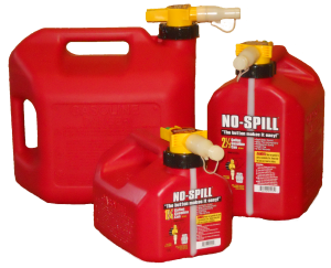 3 Sizes of No Spill Gas Cans