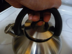 Calphalon Lid Open 2 P1150846 300x225 Best Teakettle   Calphalon   Stainless Steel Teakettle with Superior Human Design