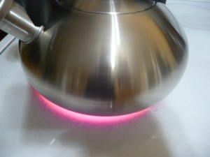 Calphalon burner sized for base of kettle