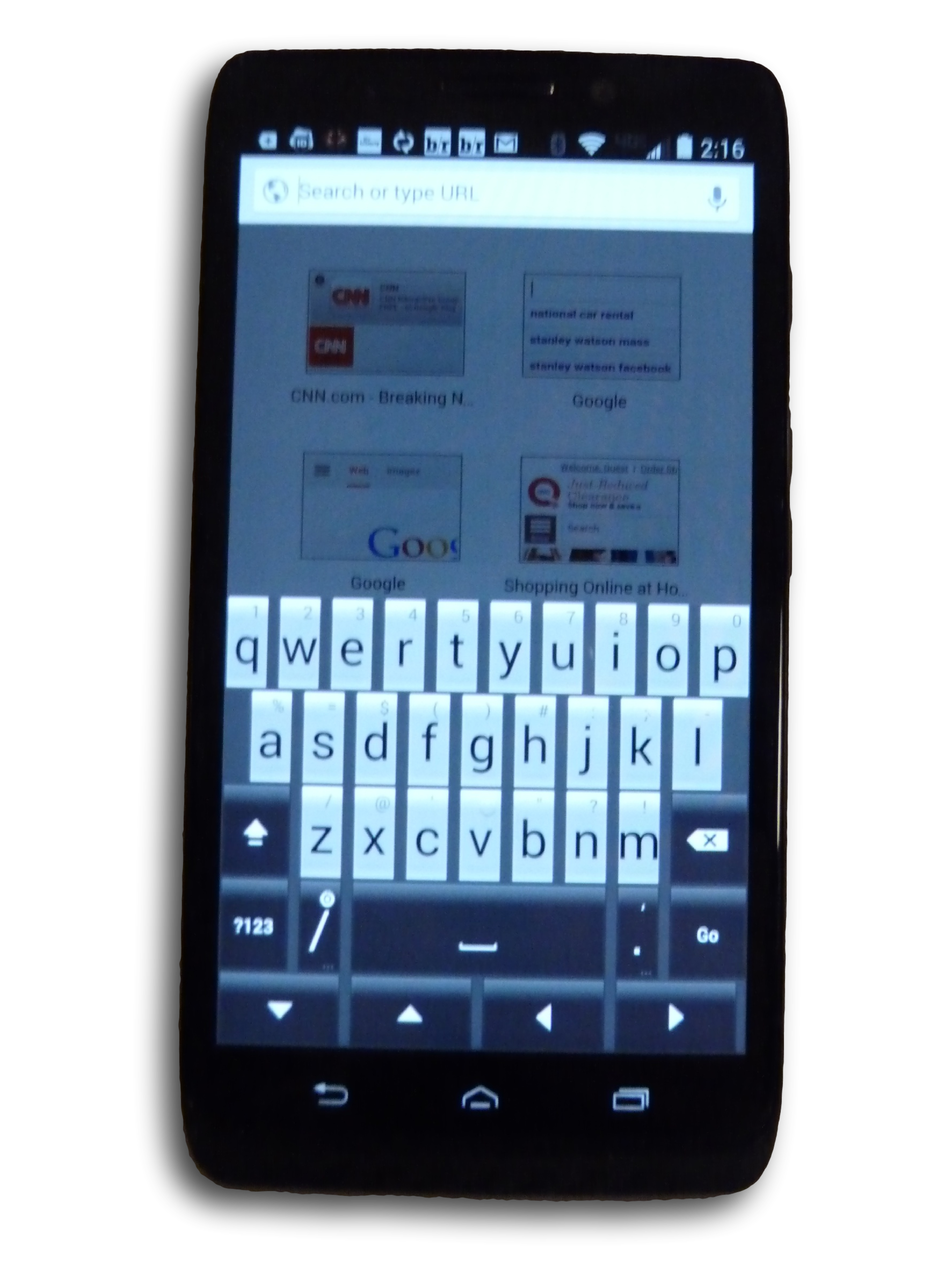 DroidMaxx wThumbsKbd1 clipped rev 1 Best Smartphone: Droid Maxx   The Power To Get Things Done